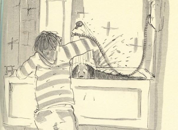 bath time for bonnie