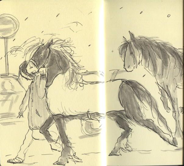 wandering horses