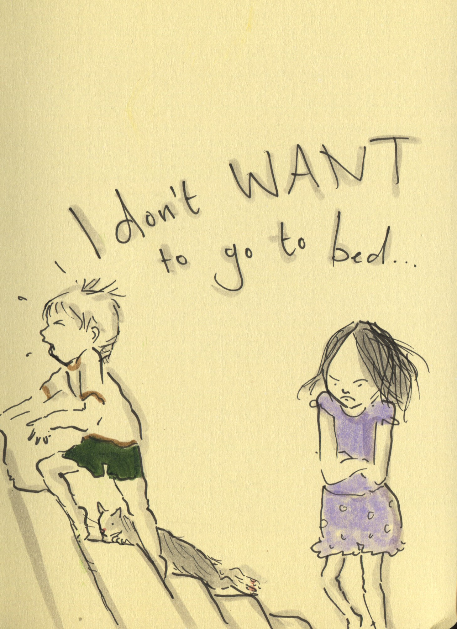 Do not want to sleep, what to do