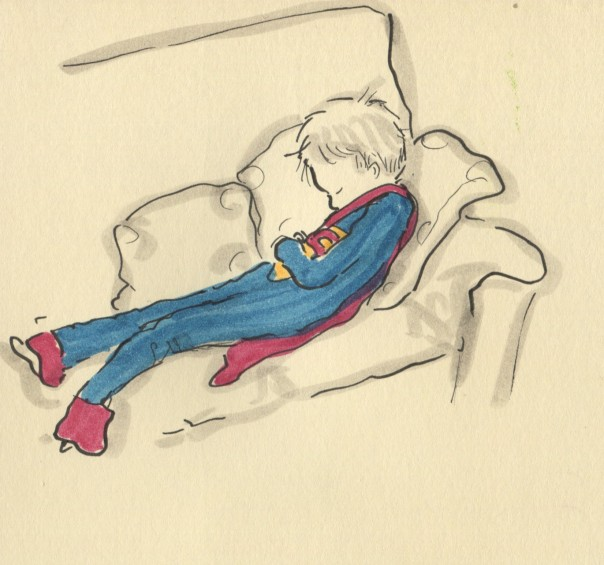 superman caught napping