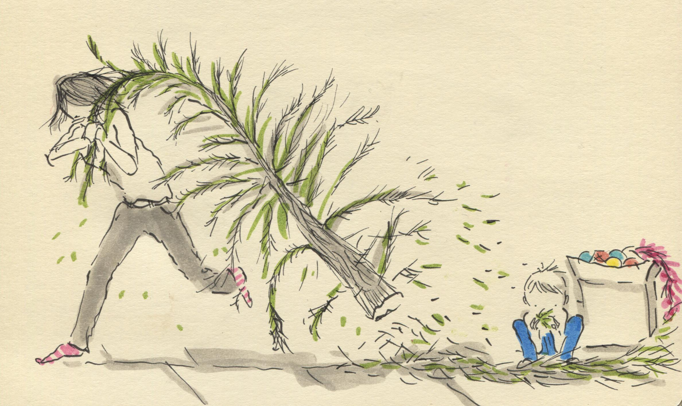 tree running