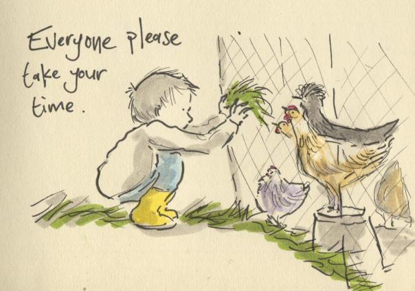 chickens and gruff