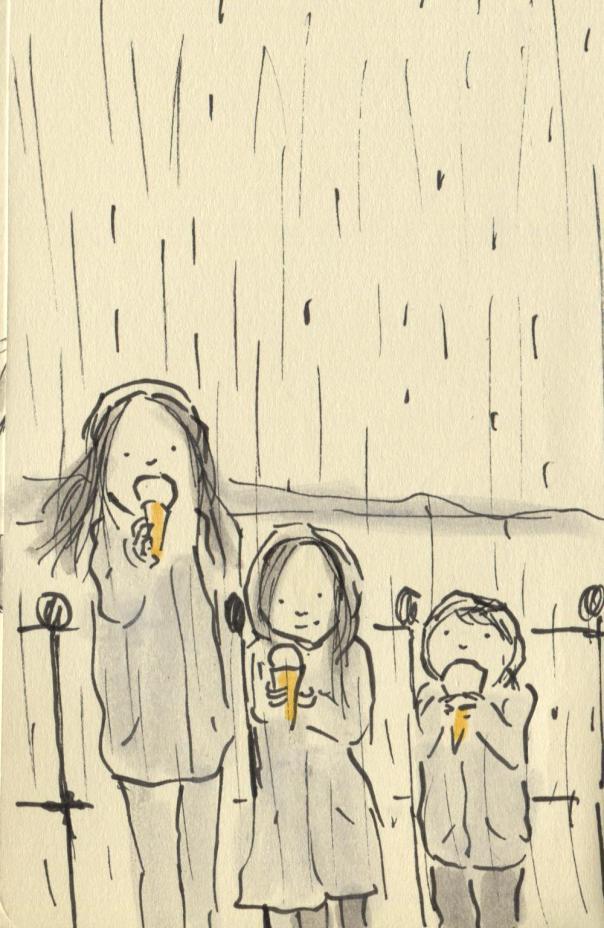 joes ice cream and rain