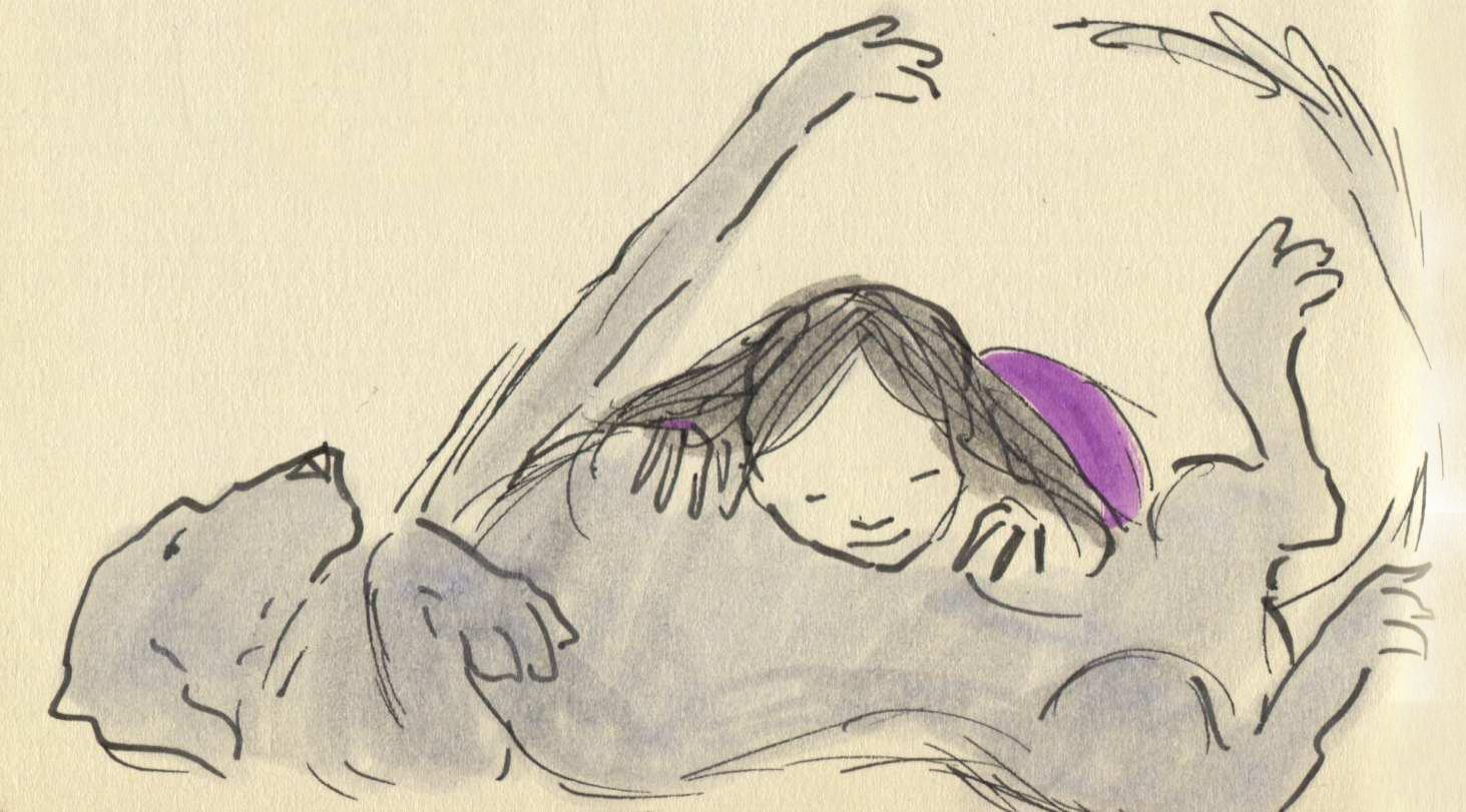 belly hugs