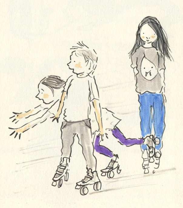 rollar skating