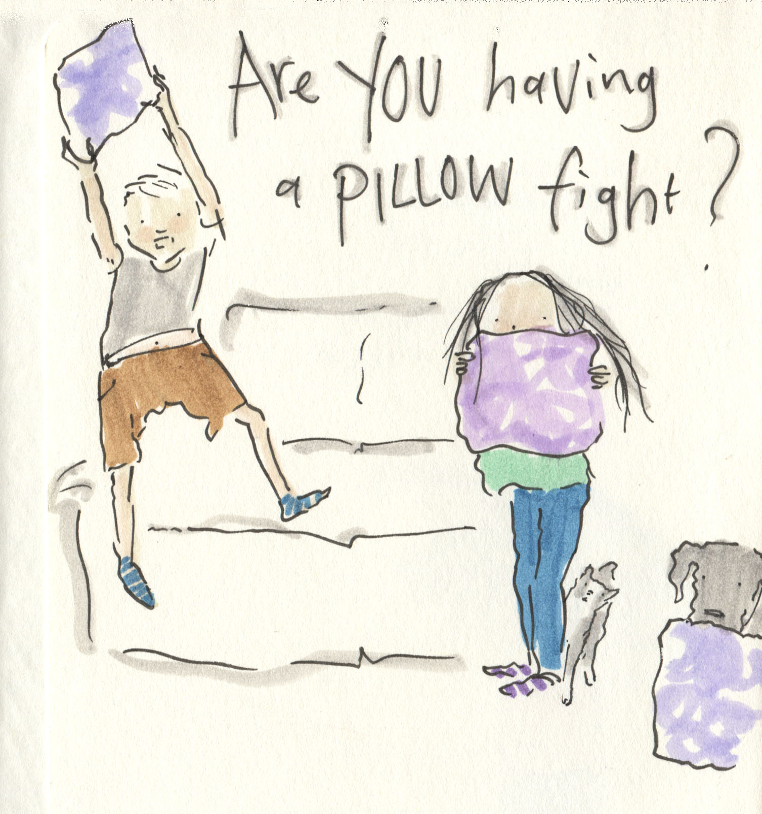 are you having a pillow fight