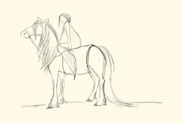 horse and princess