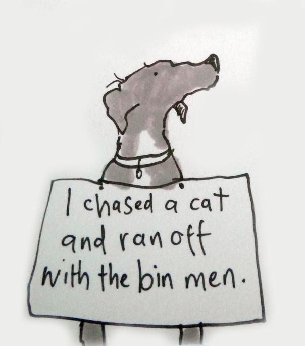 I ran off with the bin men