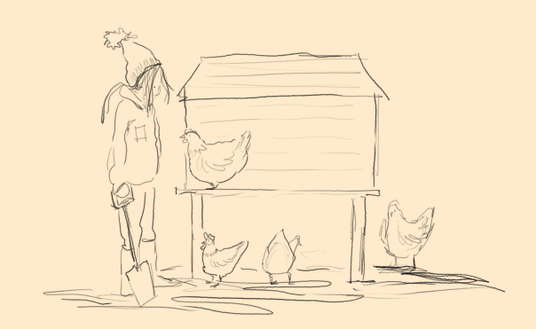 mud and chickens